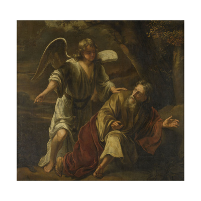 Prophet Elijah Visited by an Angel Pósters por Ferdinand Bol