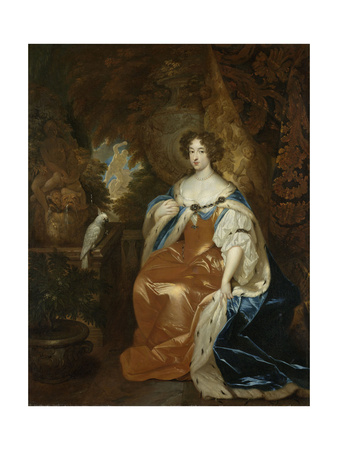 Portrait of Mary Stuart, Wife of Prince William III Posters by Caspar Netscher