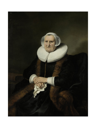 Portrait of an Old Lady, Possibly Elisabeth Bas Láminas por Ferdinand Bol