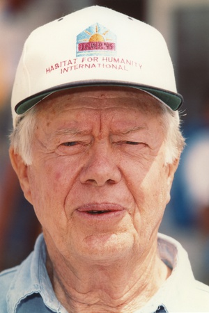 Jimmy Carter wearing a White Cap in a Close up Portrait Photo by  Movie Star News
