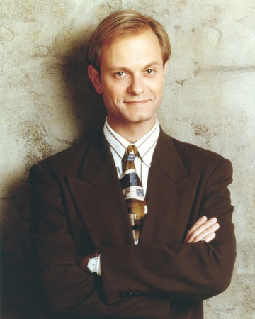 David Pierce Leaning on the Wall wearing Black Coat with Tie Photo by  Movie Star News