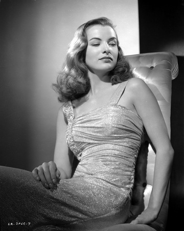 Ella Raines Looking Down in Classic Photo by  Movie Star News