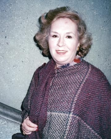 Doris Roberts Portrait in Plaid Shawl Photo by  Movie Star News