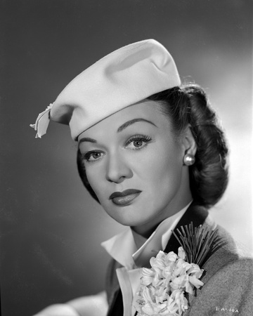 Eve Arden on White Hat Portrait Photo by  Movie Star News