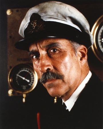 Christopher Lee in Navy Attire Close Up Portrait Photo by  Movie Star News