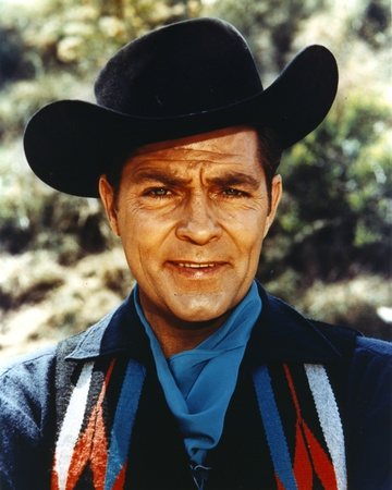 Dale Robertson Close Up Portrait wearing Black Hat and Denim Jacket with Scarf Photo by  Movie Star News