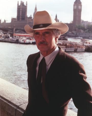 Dennis Weaver Portrait in Brown Coat Photo by  Movie Star News