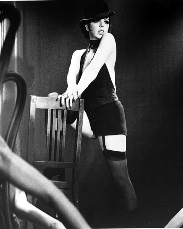 Liza Minnelli Posed on Chair in Black Lingerie with Hat Photo by  Movie Star News