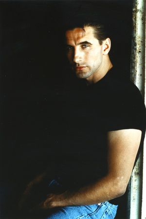 William Baldwin Posed in Black T-shirt with Black Background Photo by  Movie Star News
