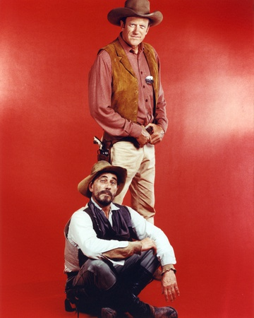 Gunsmoke Cast Picture in Red Background Photo by  Movie Star News