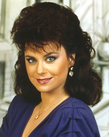Delta Burke smiling in Blue Dress Photo by  Movie Star News