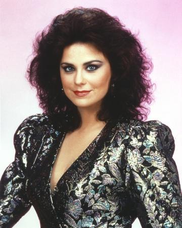 Delta Burke smiling in Black Glitter Dress Portrait Photo by  Movie Star News
