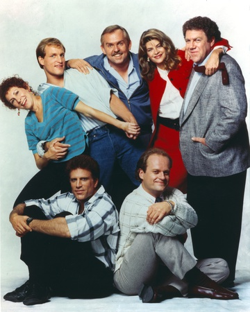 Cheers Cast Posed Together with Two Men sitting and Five People standing Photo by  Movie Star News