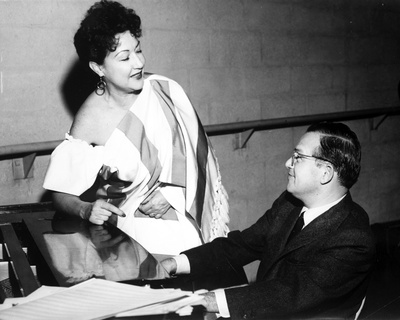 Ethel Merman Talking in Black and White Photo by  Movie Star News