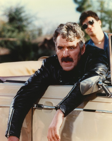 Dennis Farina in Black Leather Jacket Portrait Photo by  Movie Star News