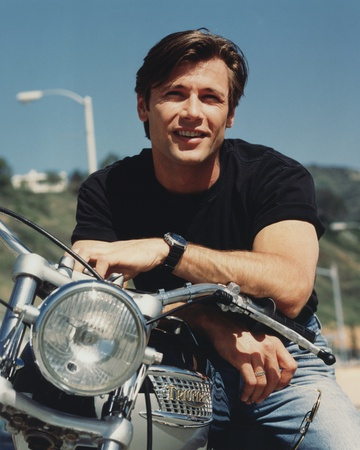Grant Show smiling in Black Shirt Portrait Photo by  Movie Star News