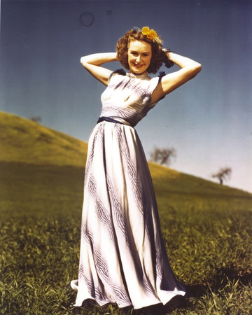 Rosemary Lane posed in Elegant Dress Photo by  Movie Star News