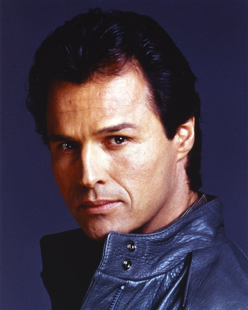 Michael Nader in Black Leather Jacket Close Up Portrait Photo by  Movie Star News