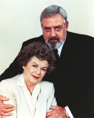 Raymond Burr White Background Couple Portrait in Formal Outfit Photo by  Movie Star News