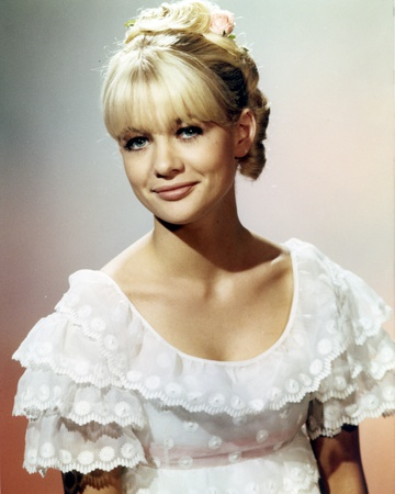 Judy Geeson in a Ruffled Top and smiling Portrait Photo by  Movie Star News