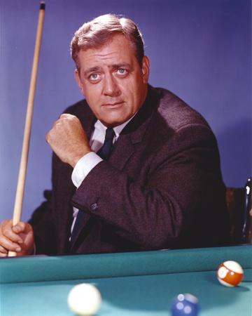 Raymond Burr Playing Pool in Tuxedo Portrait Photo by  Movie Star News