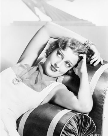 Jeanette MacDonald Posed in White Dress Photo by  Movie Star News