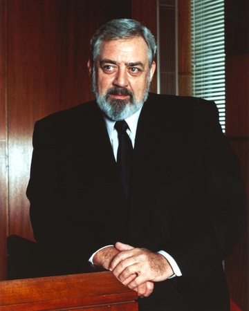 Raymond Burr standing and Looking Away wearing Tuxedo Portrait Photo by  Movie Star News