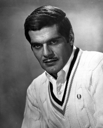 Omar Sharif in White Sweater Photo by  Movie Star News