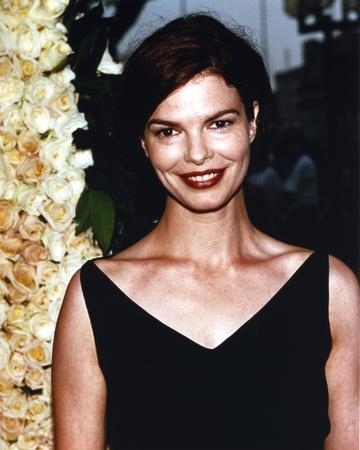 Jeanne Tripplehorn Posed in Black V-Neck Strap Dress Photo by  Movie Star News