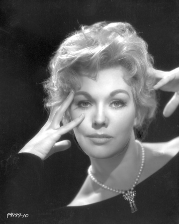Kim Novak Posed wearing Black Fit Outfit Photo by  Movie Star News