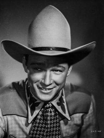 Roy Rogers posed in Portrait with Cowboy Hat Photo by Jack Freulich