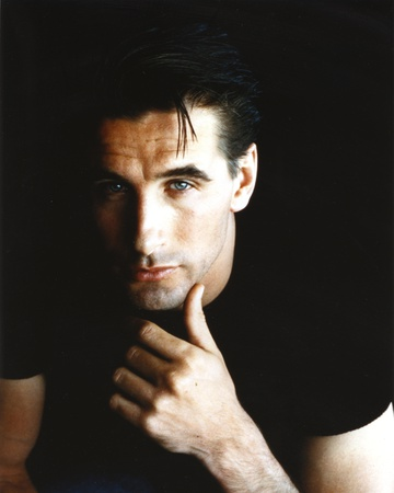William Baldwin in Black T-shirt with Black Background Photo by  Movie Star News