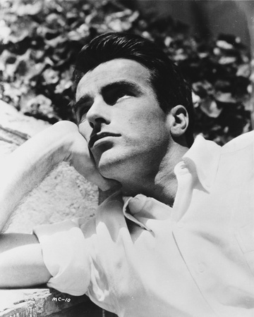 Montgomery Clift Lying on a Floor wearing White Sleeves Photo by  Movie Star News