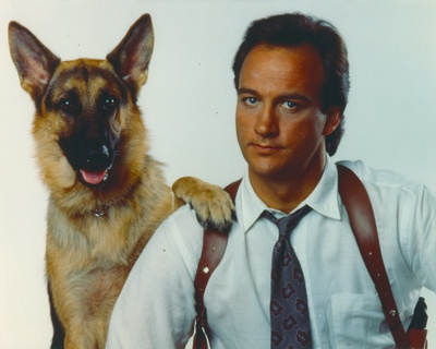 Jim Belushi posed in Portrait with Dog Photo by  Movie Star News