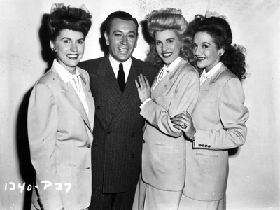 Andrew Sisters on Suit Happy Portrait Photo by  Movie Star News