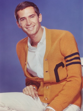 Anthony Perkins posed in Yellow Coat Foto af  Movie Star News