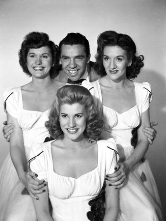 Andrew Sisters on White Dress Portrait Photo by  Movie Star News