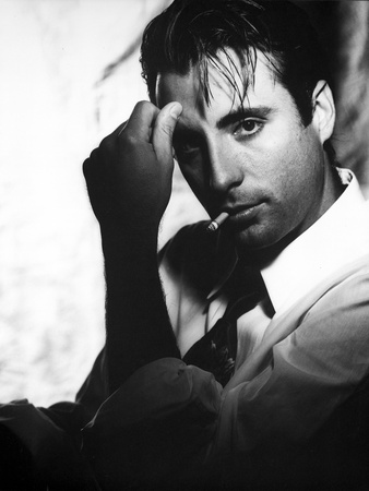 Andy Garcia in White With Cigarette Photo by  Movie Star News
