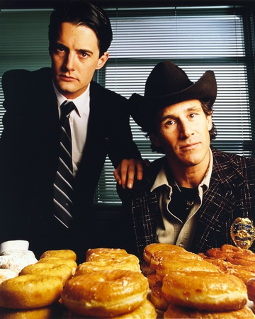 Twin Peaks Portrait With Donut Photo by  Movie Star News