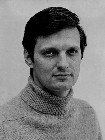 Alan Alda in White Portrait Photo by  Movie Star News