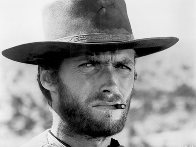 Clint Eastwood Portrait in Classic with Cigarette in His Mouth Foto af  Movie Star News