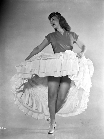 Dinah Shore Dancing in White Dress Photo by  Movie Star News