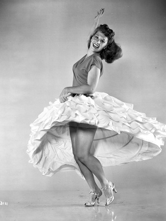 Dinah Shore Dancing in Classic Photo by  Movie Star News