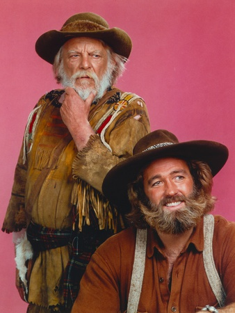 Denver Pyle Portrait in Brown Jacket with a Guy Photo by  Movie Star News