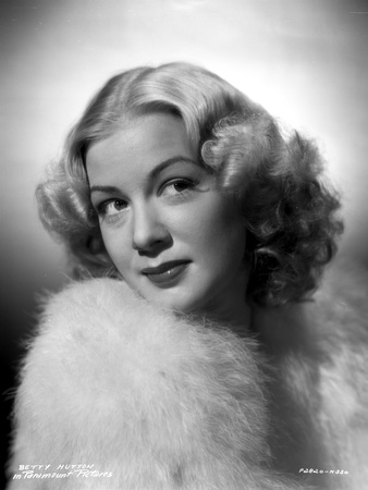 Betty Hutton on a Fluffy Coat Portrait Photo by  Movie Star News