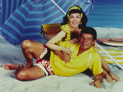 Annette Funicello Beach Theme Couple Portrait Photo by  Movie Star News