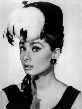 Audrey Hepburn Breakfast at Tiffany's Feather Hat Photo by  Movie Star News