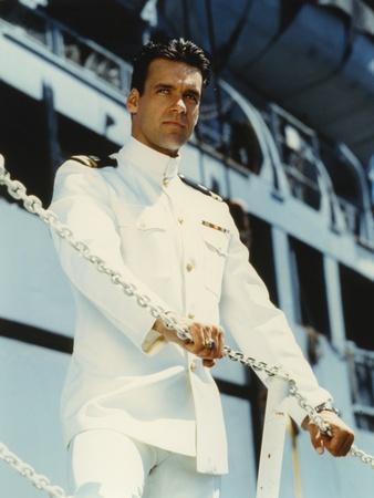 David James Elliott standing in Navy uniform Photo by  Movie Star News