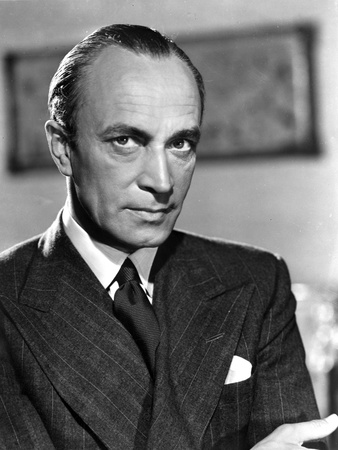 Conrad Veidt Posed in Black Suit with Brushup Hairdo Photo by  Movie Star News