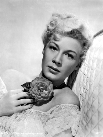 Betty Hutton Leaning with a Flower Portrait Photo by  Movie Star News